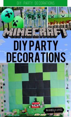 Minecraft DIY Party Decorations