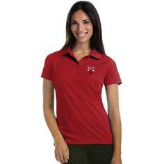 Women's Antigua Chicago Bulls Pique Xtra-Lite Polo, Size: Medium, Dark Red