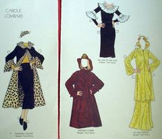 Carole Lombard paper dolls by Tom Tierney