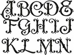 Paulson Monogram Font - 2.5 inch Size with 1.5 inch side letters