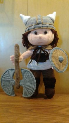 TOMMY the Viking - Crochet creation by Sherily Toledo's Talents