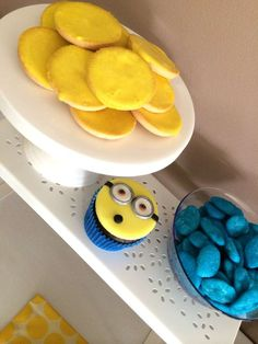 Yellow and blue treats at a Despicable Me birthday party! See more party planning ideas at CatchMyParty.com!