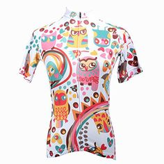 QinYing Cute Cartoon Animals Colorful Short Sleeve Outdoor Bicycle Cycling Jersey L - http://ridingjerseys.com/qinying-cute-cartoon-animals-colorful-short-sleeve-outdoor-bicycle-cycling-jersey-l/