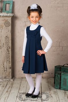 "Tienda de ""Firefly"" | Los uniformes escolares y ropa para niños en Moscú Little Kid Fashion, Little Girl Outfits, Little Girl Dresses, Toddler Fashion, Kids Outfits, Kids Fashion, Girls Dresses Sewing, Girls Formal Dresses, Dresses Kids Girl"