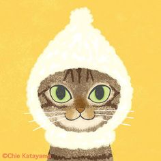 Cats works - Chie Katayama Illustration