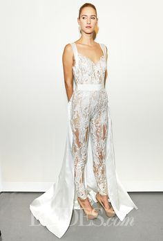 9bb41aa8929 Liancarlo - Spring 2013 - Style 5828 Sleeveless Beaded Tulle Mermaid Wedding  Dress with V-Neckline. Wedding PantsWedding JumpsuitLace ...