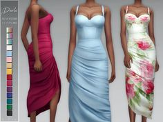 The skirt may have slight clipping issues in certain poses. Found in TSR Category 'Sims 4 Female Young Adult Party' Sims 4 Mods Clothes, Sims 4 Clothing, Art Clothing, Female Clothing, Sims 4 Dresses, Dresses For Teens, Sims 4 Outfits, Maxi Dresses, Sims 4 Cas
