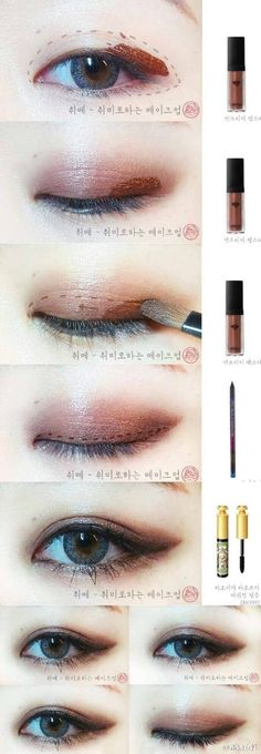 Korean style make up #eye make up #idea                                                                                                                                                                                 More