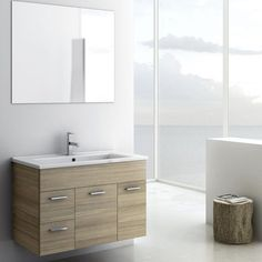 ACF by Nameeks ACF LOR02-LC Loren 33-in. Single Bathroom Vanity Set - Larch Canapa | from hayneedle.com