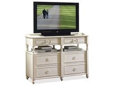 Shop for Riverside Media Chest, 16764, and other Home Entertainment Entertainment Centers at Barrs Furniture in McMinnville, TN. All drawers have dovetail joinery and ballbearing extension guides. Two bottom drawers have Cedar veneer bottoms, all others have a decorative print bottom.