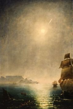 Charles Piazzi Smyth, Daylight View over Table Bay Showing the Great Comet of 1843, N.d.