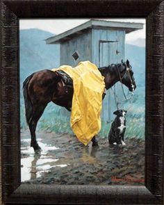 $89.90 Thomas Lorimer Rainy days and Mondays Framed Canvas Signed