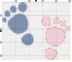 Needlepoint a Pair of Baby Feet with This Free Chart: Day 145 of the 365 Needlepoint New Year's Resolutions Challenge