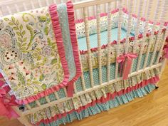 Baby Bedding Made to Order 4 pc Crib Bedding by LittleCharlieMay, $429.00