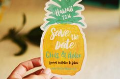 Pineapple Shape Save the Date Wedding Magnet by TheBlushMarket
