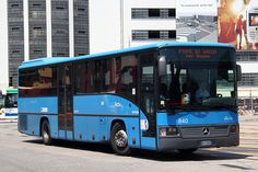 Mercedes Benz OC550 Integro coach at Piazza Roma bus terminal in Venezi