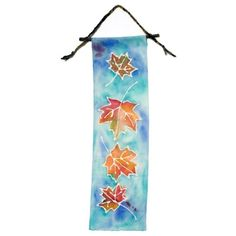 Glue-Batik Banner - http://spoonful.com/autumn/best-fall-crafts-gallery#carousel-id=photo-carousel&carousel-item=25