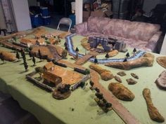 """Set up for my late 1930's Doctor Who miniatures game """"They Used Hitler's Brain."""""""