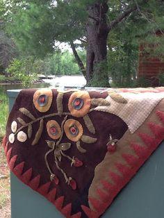 wool felt, rugswool appliqu, wind vine, wooli, vines, vine wander, penni rugswool, wool work, wool appliqué