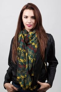 Hunter Green Polyester Veronica Long Scarf ~ Scarves $22.95