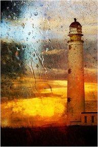 Rua Reidh Lighthouse stands entrance to Loch Ewe Wester Ross, Scotland
