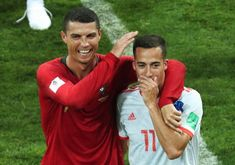 Cristiano Ronaldo for Portugal and Lucas Vázquez for Spain Mundial 2018 World Cup 2018 Russia