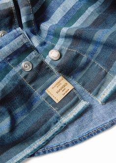 Camisa denim rayas