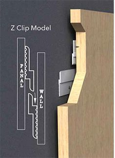 Panel Rails and Clips | Panel Hanging Wall Clips| Orange Aluminum Z Clip