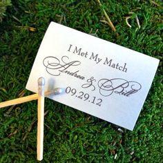 """I Met My Match"" Custom Matchbox Favors - Gracious Bridal"