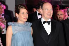 (hello.com) - Charlotte Casiraghi + her uncle Prince Albert of Monaco at the Rose Ball, Monte Carlo