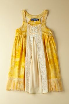 LOVE BRIGHT YELLOW! Lace Center Dress
