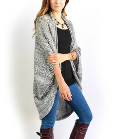 Look at this éloges Charcoal Dolman Open Cardigan on #zulily today!