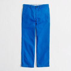 Boys bright blue pants from J.Crew|crewcuts.