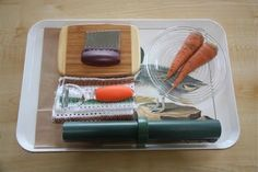 Carrot peeling exercise! #montessori     #games-toys-for-young-kids