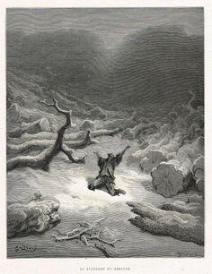 Le bucheron et Mercure - fable de Jean de La Fontaine illustrée par Gustave Doré - MAS Estampes Anciennes - MAS Antique Prints