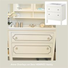 """Picture of O'verlays Kit for IKEA HEMNES 31.5"""" Vanity Cabinet"""