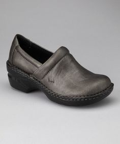 Take a look at this Pewter Metallic Peggy Clog by b.o.c by Born on @zulily today!