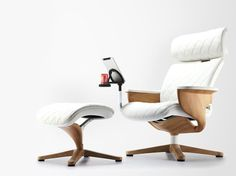 NUVEM Armchair with 4-spoke base by Comfort Seating Europe design Neil Wu