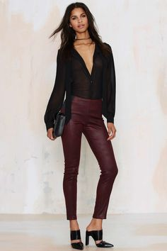 Duly Coated Paneled Tights | Shop Clothes at Nasty Gal!