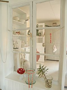mushroom, natal reciclado, nordic christmas, branch, garland, interior window