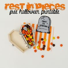 Rest in pieces free Halloween printable