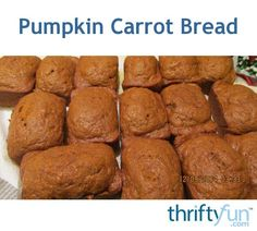 Give your family an extra helping of beta carotene with this nutrient rich quick bread. This is a guide about making pumpkin carrot bread. Cooking Pumpkin, Canned Pumpkin, Walnut Bread Recipe, Rhubarb Bread, Friendship Bread Starter, Recipes With Naan Bread, Make Banana Bread, Bread And Pastries, Bagels
