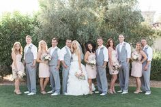 Vintage blush and gold Arizona wedding, featuring Maggie Sottero wedding dress.