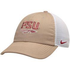 e115c53d673b9 Florida State Seminoles Nike Trucker Adjustable Performance Hat –  Khaki White Florida State Seminoles