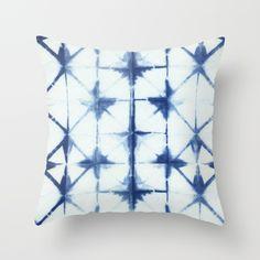 Shibori Thirteen Throw Pillow by jillbyers Modern Throw Pillows, Tye Dye, Shibori, Decor Styles, Quilts, Blanket, Retro, Abstract, Rugs