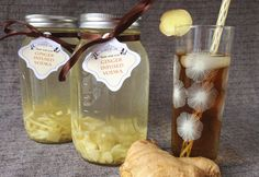 Ginger Infused Vodka from the Evermine blog #vodka #infusion #ginger #cocktail #recipe