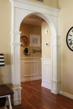 DIY arch moulding tutorial.