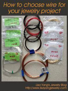 How to choose wire for your jewelry project: Lisa Yang's ~ Wire Jewelry Tutorials #jewelrymakingsupplies