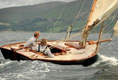 """""""Tringa"""" is a most perfectly executed gaff-rigged example of the famous Clyde 19/24 class, named for her length on the waterline and her measurement on deck. The class was formed in 1896, after the earlier 17/19 class was thought to have reached its full development with Fife's Hatasoo (who competed in the 2003 Fife Regatta), which no other boat managed to beat."""