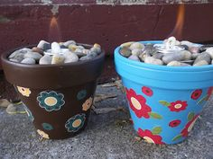 Sterno Can Fire Pots Are Cheap and Easy to Make and Look So Pretty On Your Patio #diy #firepot #patio #decor